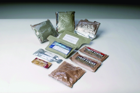 MORE packages contain items including caffeinated pudding, carbohydrate-enhanced beverage mixes, First Strike bars and Zapplesauce, a fortified applesauce. (U.S. Army/David Kamm)